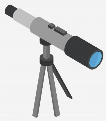 vector image of a telescope for stargazing